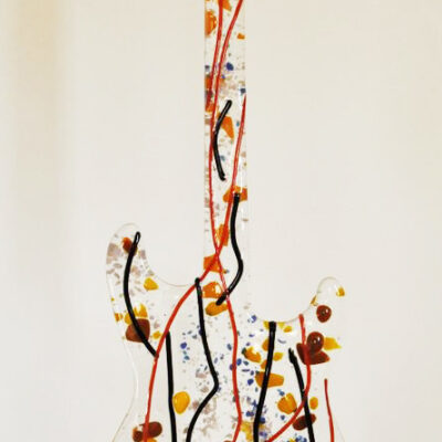 Autumn Guitar - Keller Art Glass