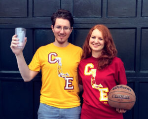 CLE Tee Yellow and Red